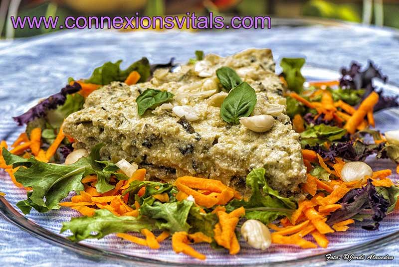 Quiche de Carbassó i Tofu amb Ametlla i Fines Herbes
