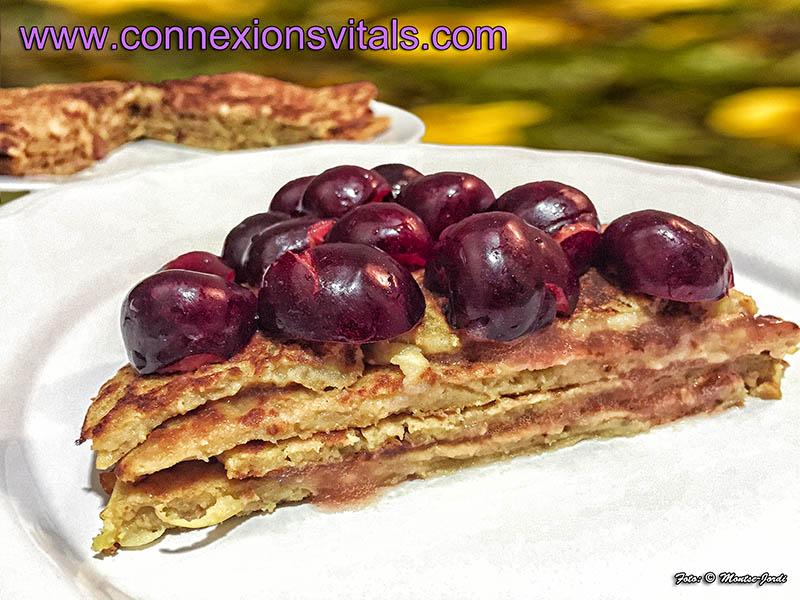 Pancakes de Trigo Sarraceno con Frambuesa (o fruta del tiempo)