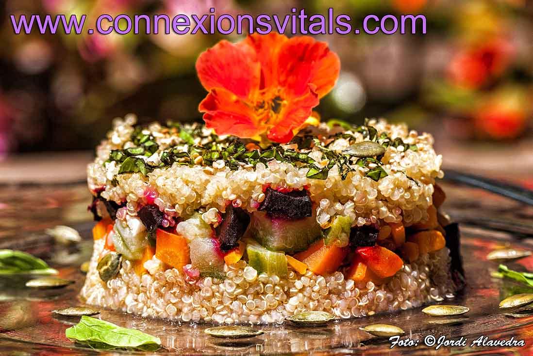 Ensalada de quinoa con verduras al vapor connexions vitals for Cocinar quinoa al vapor